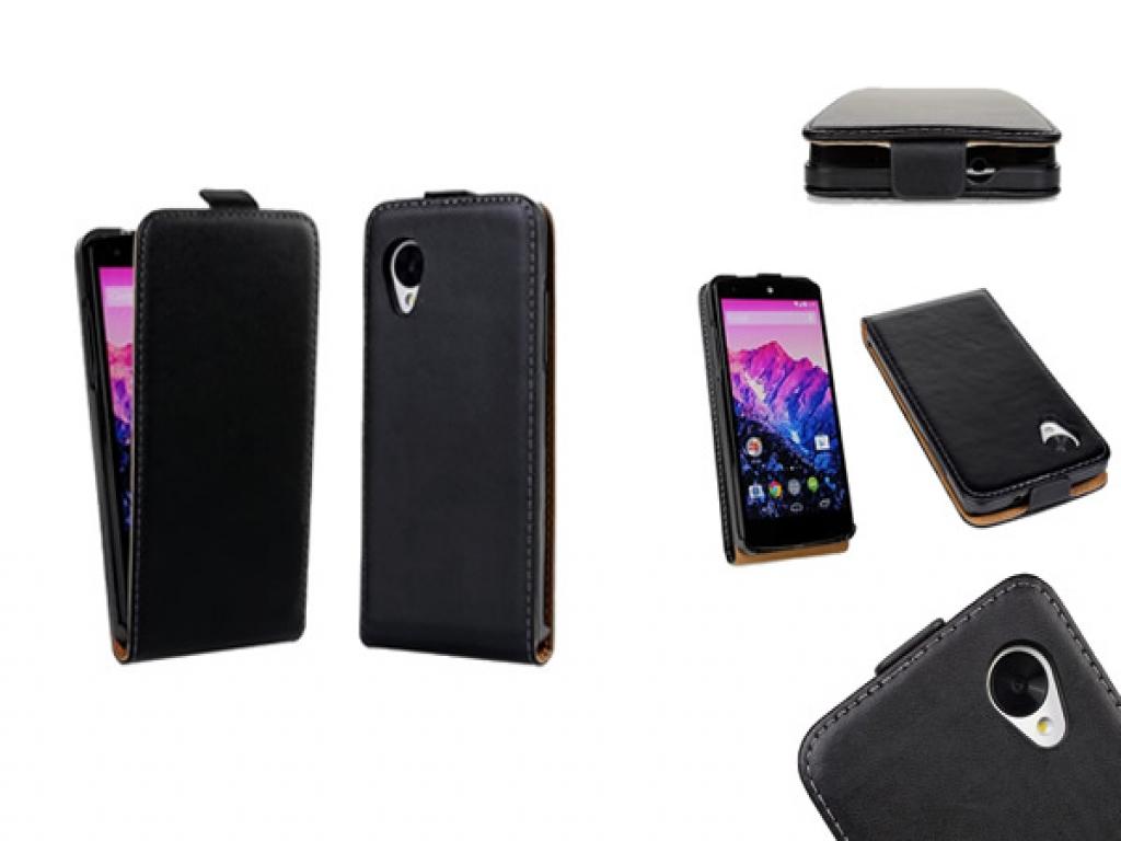 Echt lederen Google Nexus 5 Flip Case