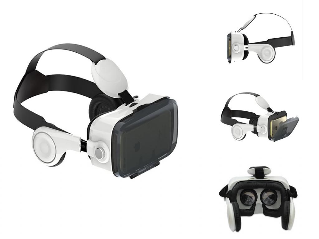 VR PRO versie 2.0 3D VR Bril Wiko Jimmy met koptelefoon