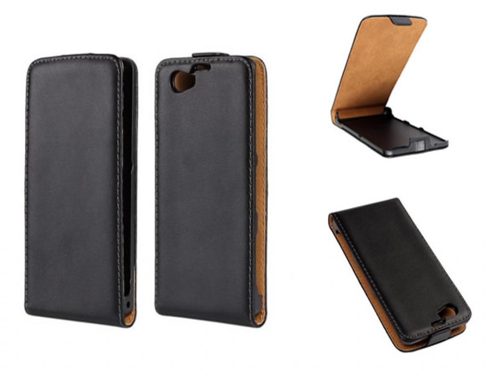 Sony Xperia Z1 Compact Flip Case van leer