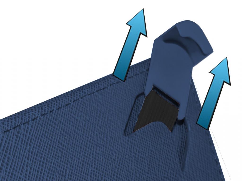Afbeelding van Blauwe Keyboard Case voor Hema H8