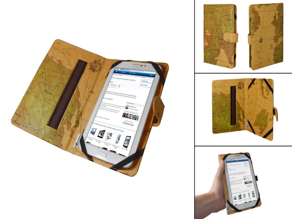 Kruidvat Mobility M677 Android 2.3 Book Cover met Wereldkaart