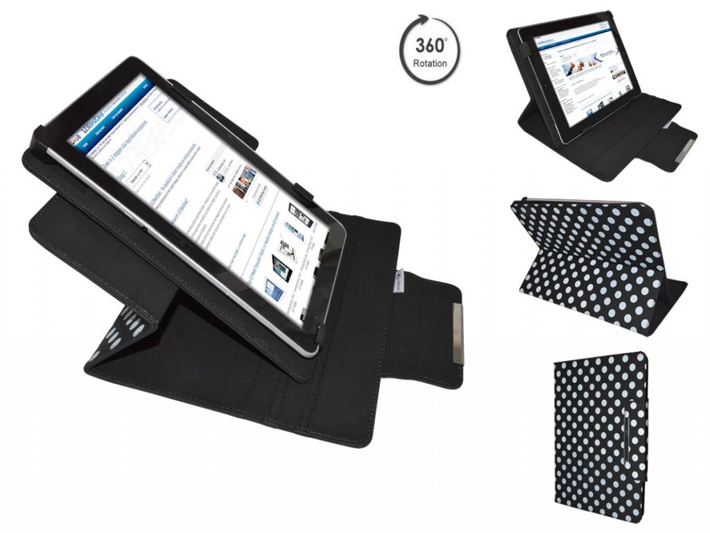 Afbeelding van Amazon Kindle fire 2 Diamond Class Polkadot Hoes met 360 Multi-stand