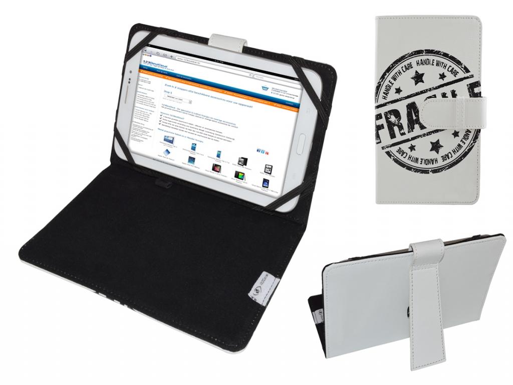 Afbeelding van 3q Ac1024c | Hoes met Fragile Print op cover | Tablet Case