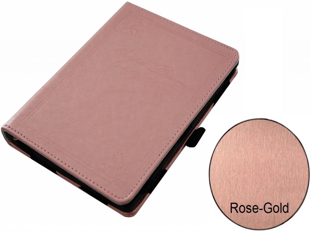 Afbeelding van Carpe Diem hoesje voor Hema Ereader 6 inch rose gold/goud
