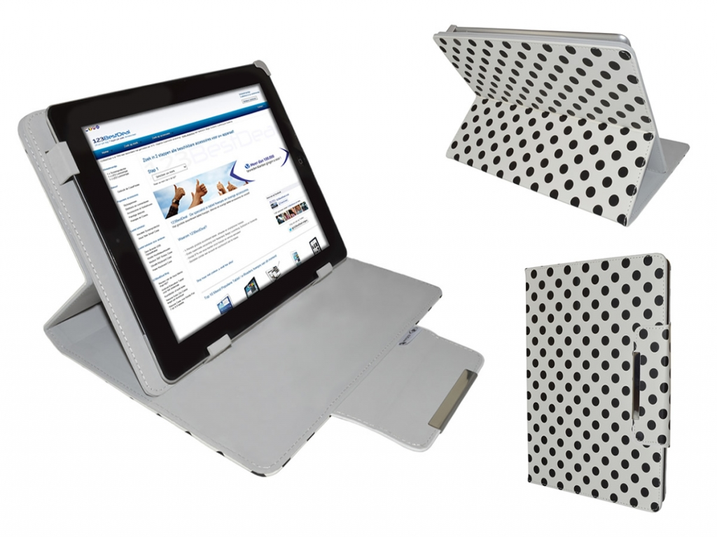 Afbeelding van Ambiance technology At tablet win 7 Diamond Class Polkadot Hoes met Multi-stand