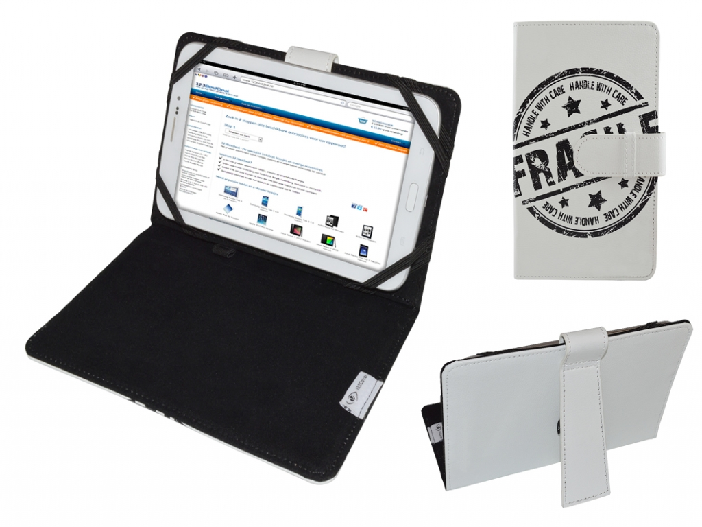 Afbeelding van Ambiance technology At tablet win 7 | Hoes met Fragile Print op cover | Tablet Case