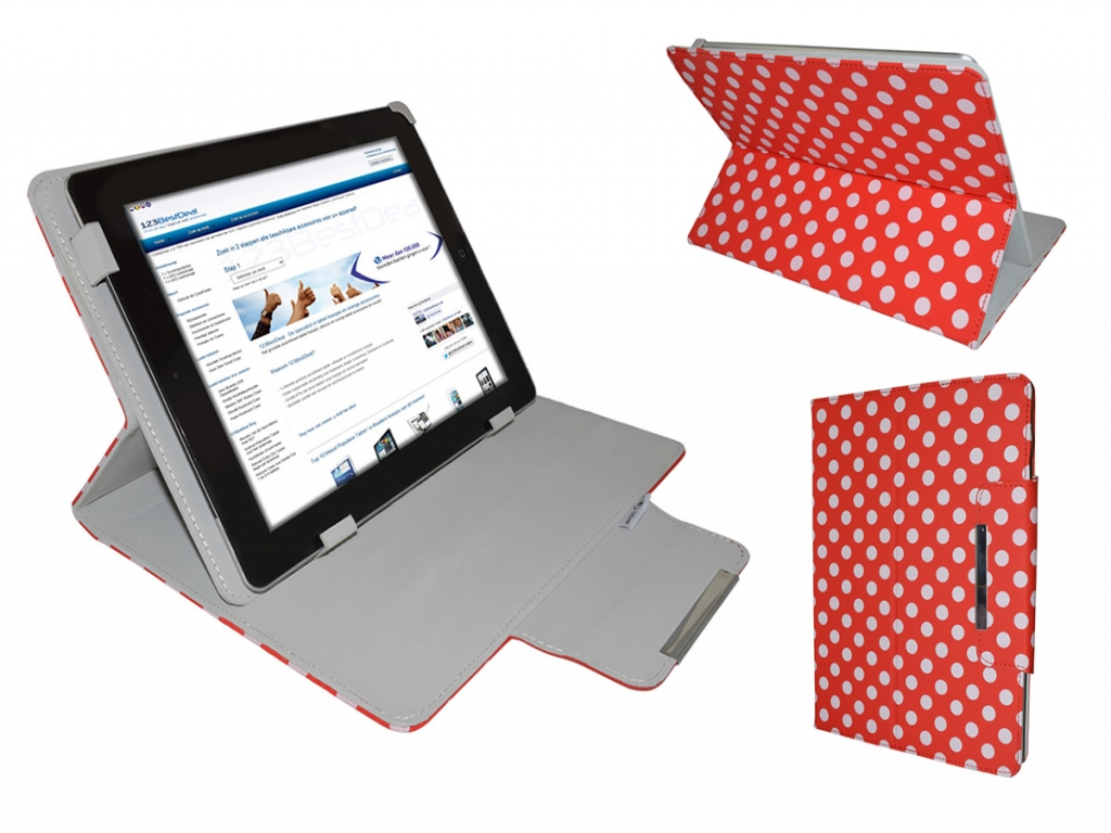 Apple Ipad 3 Diamond Class Polkadot Hoes met Multi-stand