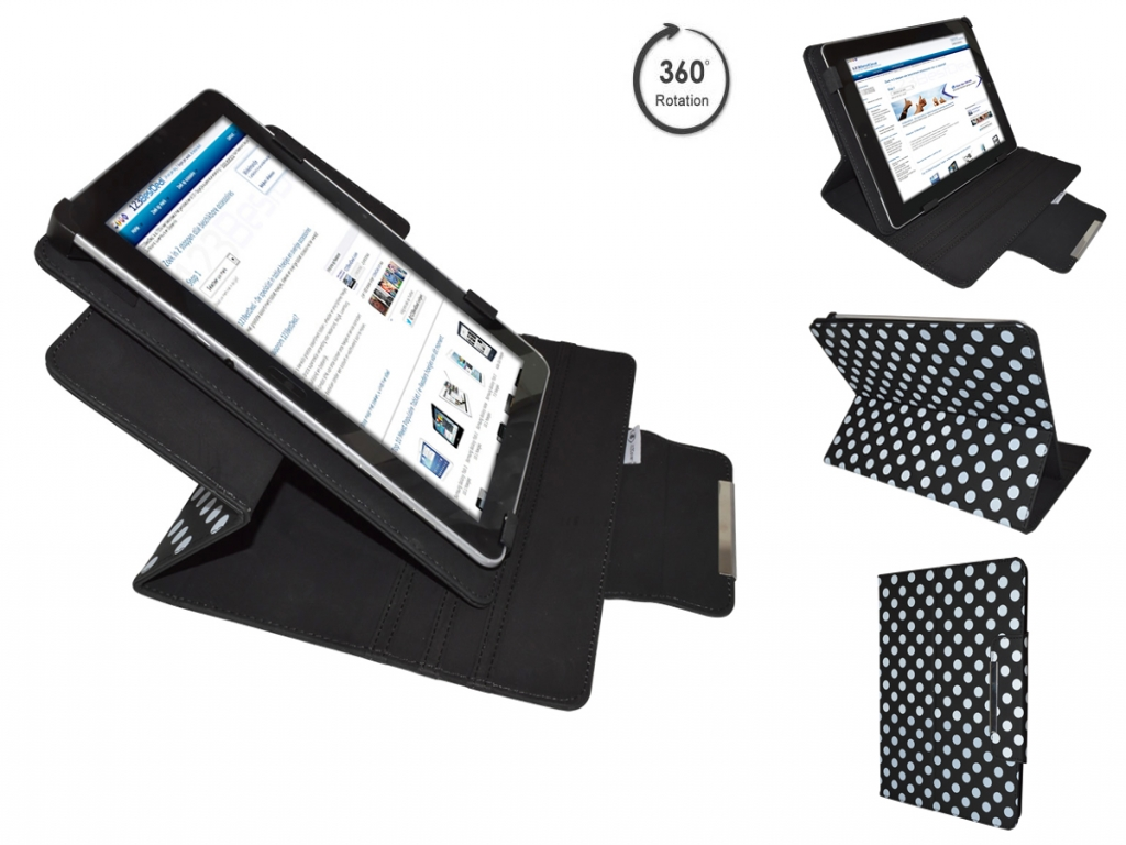 Afbeelding van Aoc Breeze tablet g7 dc mw0731 Diamond Class Polkadot Hoes met 360 Multi-stand