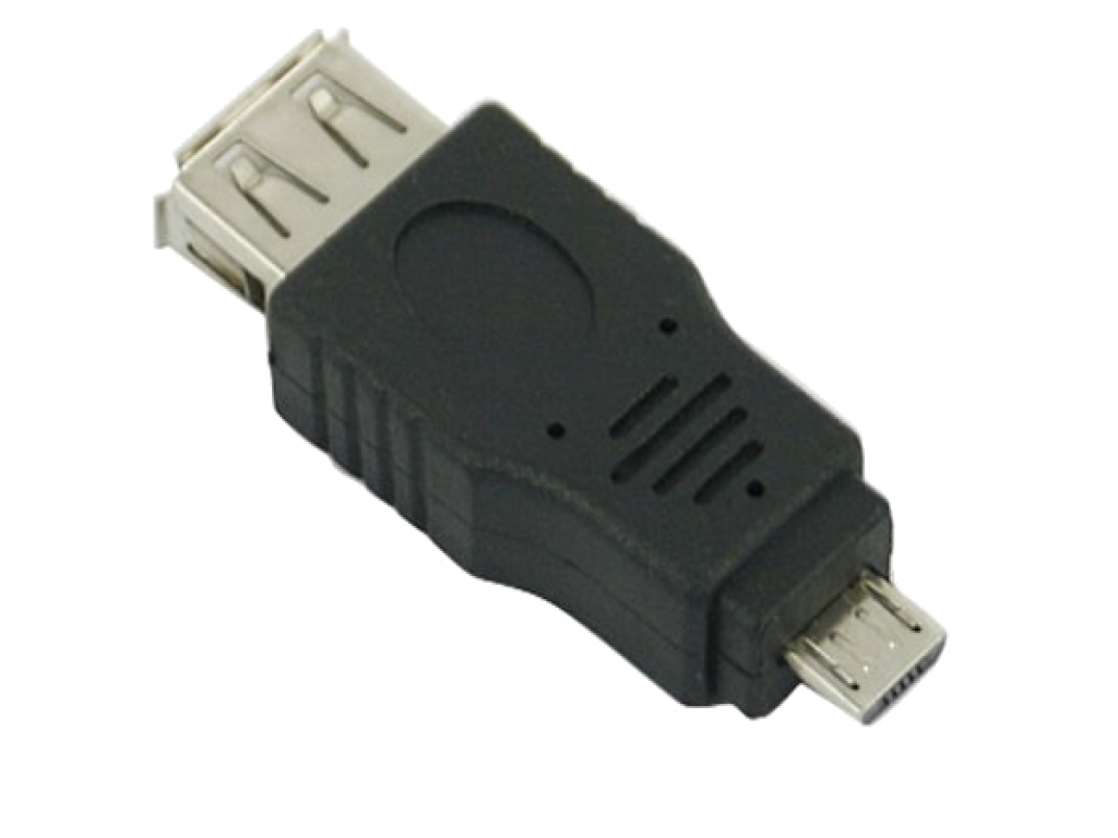 Female USB A 2.0 naar Male Micro USB B 5 pins Adapter