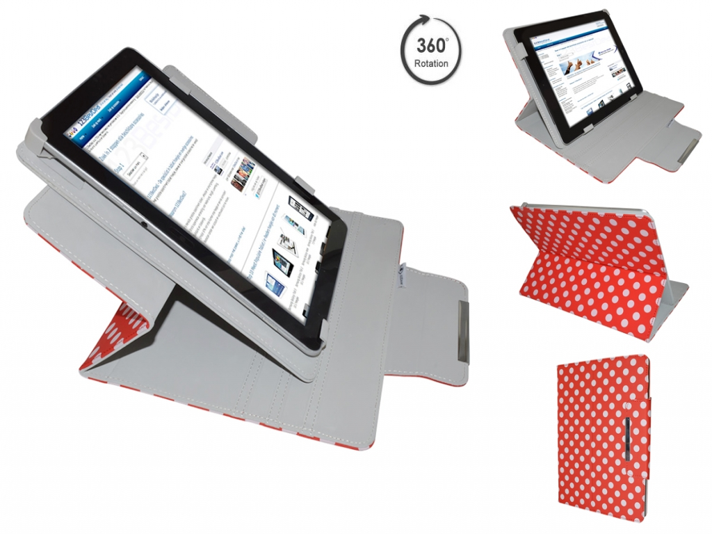 Apple Ipad 3 Diamond Class Polkadot Hoes met 360 Multi-stand