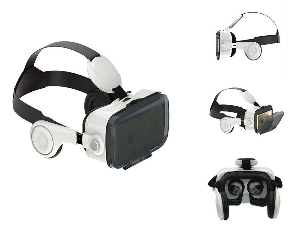 VR PRO versie 2.0 3D VR Bril Panasonic Eluga x p 02e met koptelefoon