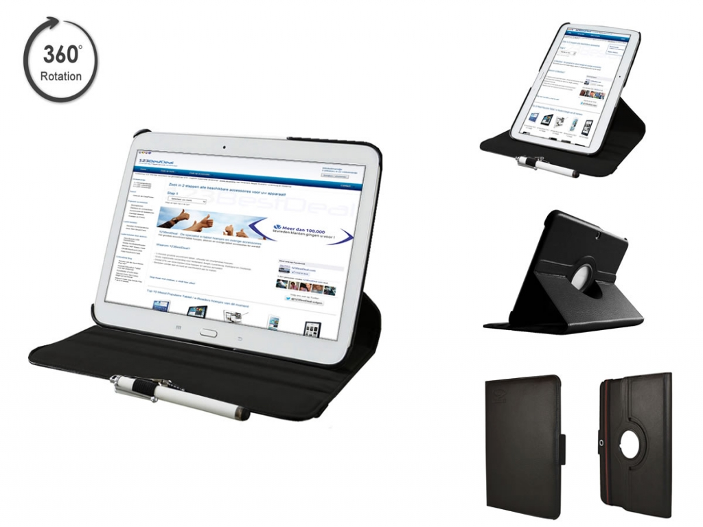 Swivel Case 360 graden draaibaar voor Galaxy Tab 4 10.1