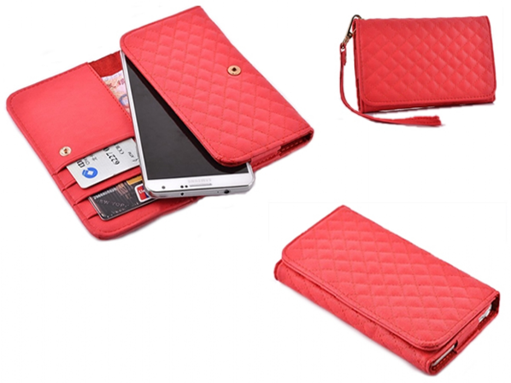 Nokia Lumia 535 hand tasje met gestikt ruitjes patroon