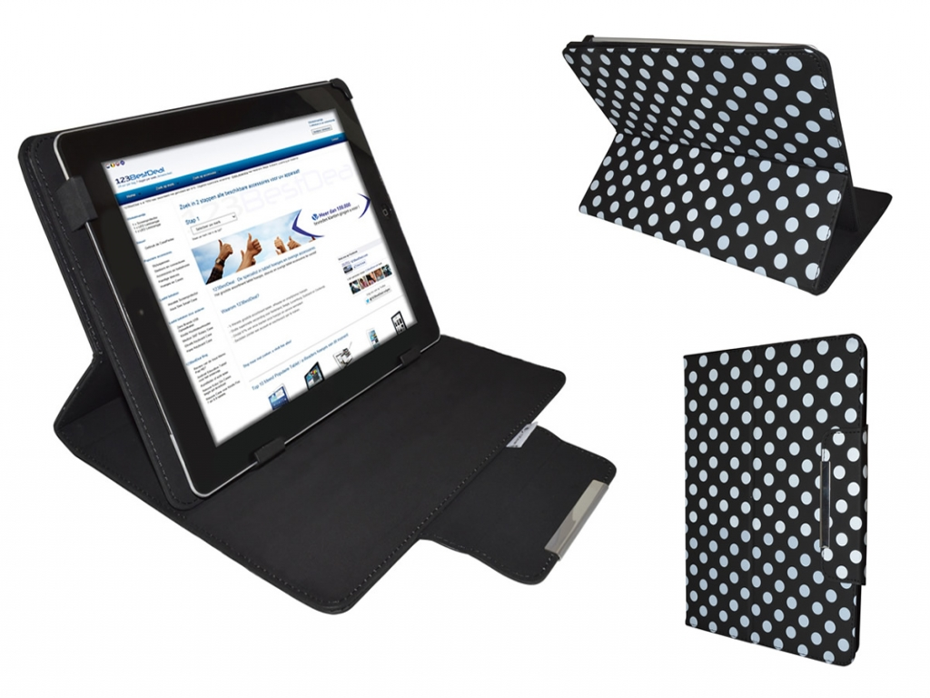 Afbeelding van Aoc Breeze tablet g7 dc mw0731 Diamond Class Polkadot Hoes met Multi-stand